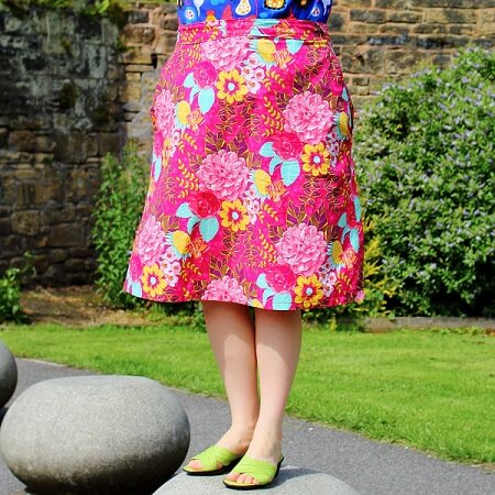 make an a line skirt with pockets sewing bee fabrics