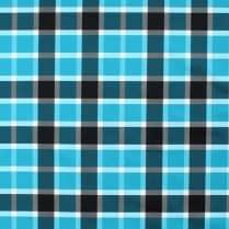 Blue plaid polyurethane laminate fabric - waterproof PUL