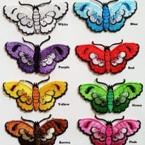 all colours of butterfly iorn patch named