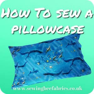 Free Pillowcase Tutorial With French Seams By Sewing Bee Fabrics