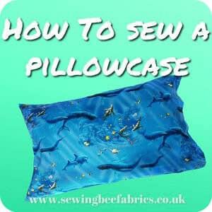 Pillowcase Tutorial Uk: Easy French Seam Pillowcase Tutorial   Sewing Bee Fabrics,