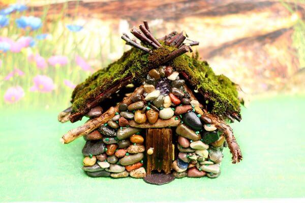 Diy Pebble Fairy House Tutorial Sewing Bee Fabrics