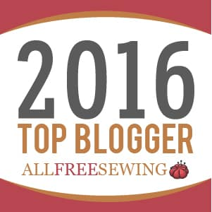 Top Blogger Award 2016 from All Free Sewing